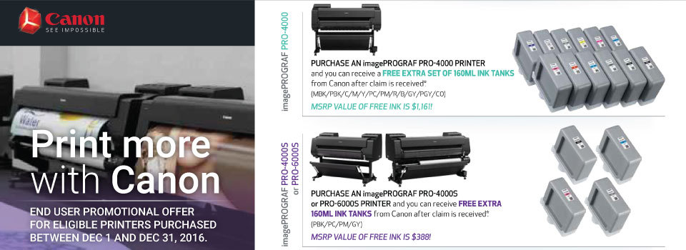 Print more with Canon Printers